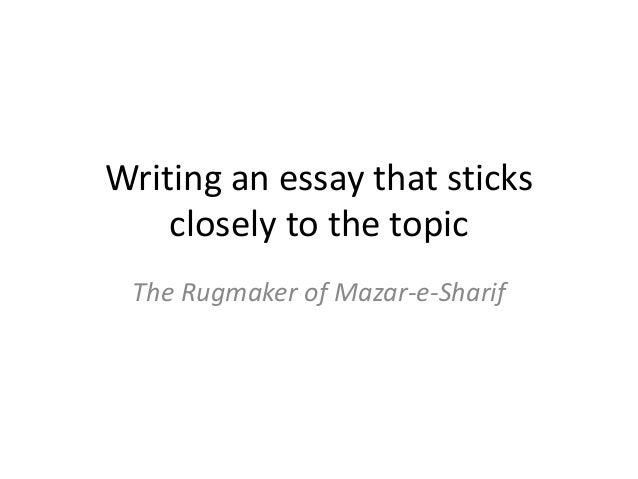 the rugmaker of mazar-e-sharif essay questions