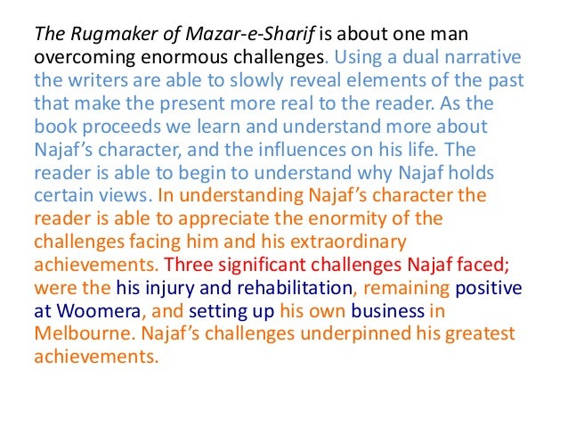Essay on the rugmaker of mazar e sharif