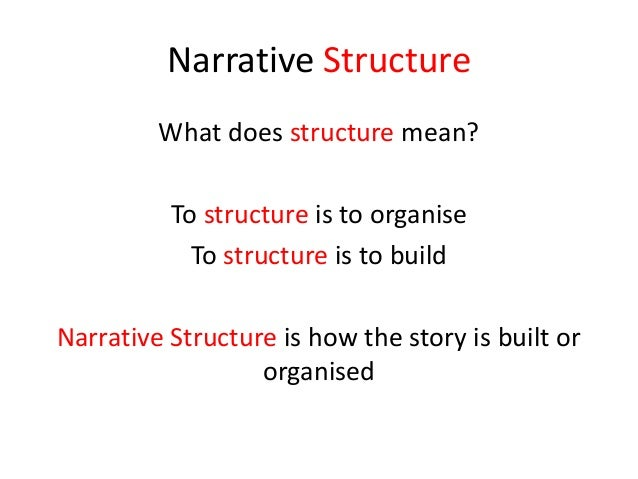 essay narrative structure