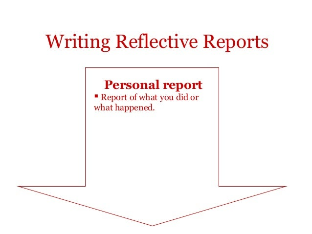 reflection report Genres in academic writing: reflective writing  reflection on action report what was good/bad, easy/difficult, pleasant/unpleasant etc.