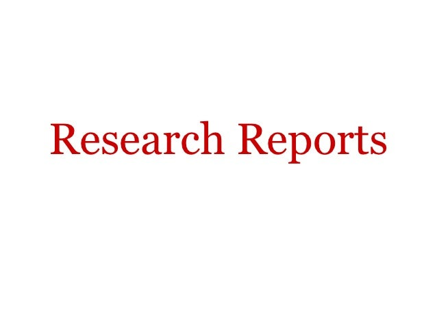 Research Reports