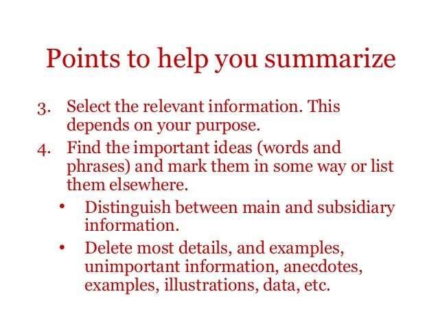 Difference between summarizing and paraphrasing and quoting