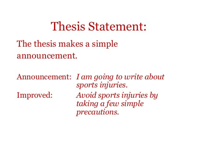 sports injuries thesis statement