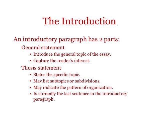 general statement essay example