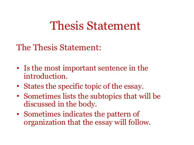 Surprising thesis