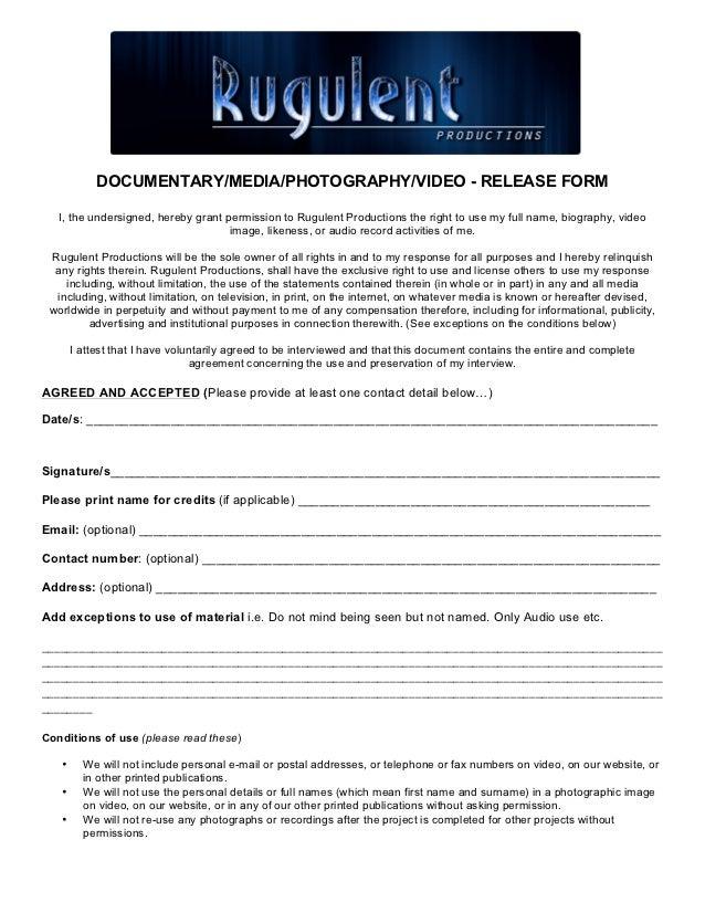 Rugulent Release Form