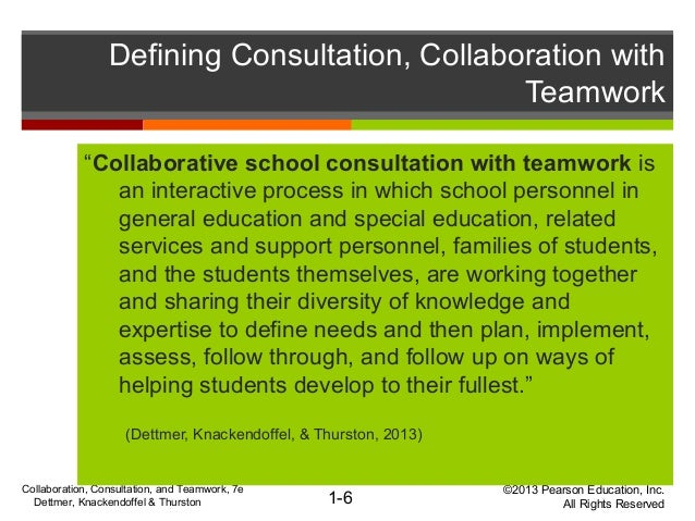 Collaborative Teaching Define ~ Chapter working together in collaboration