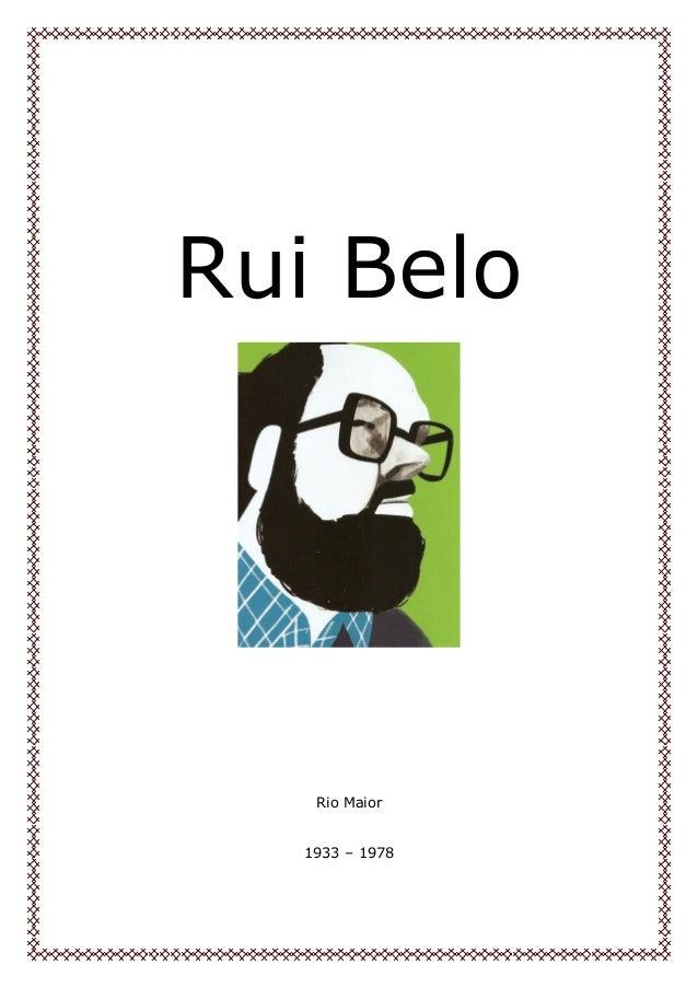 Rui Belo Rio Maior 1933 – 1978