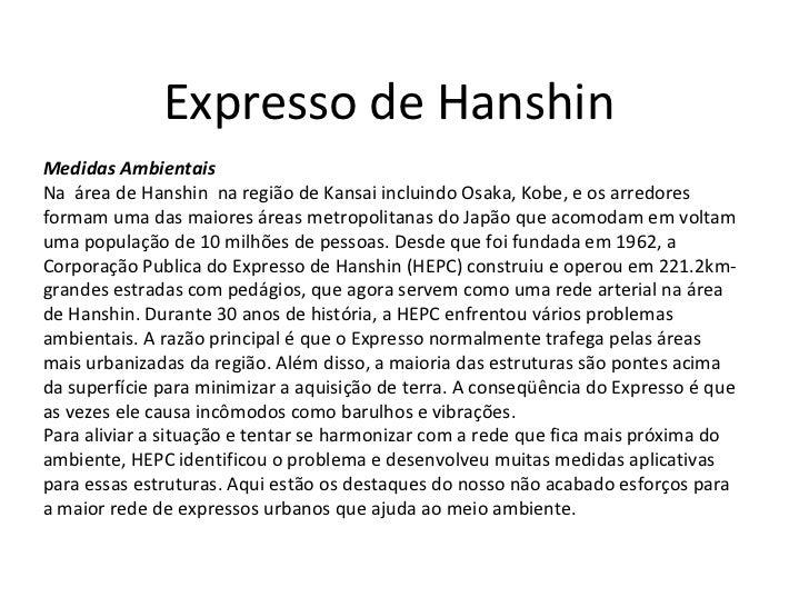 Expresso de Hanshin  Medidas Ambientais Na  área de Hanshin  na região de Kansai incluindo Osaka, Kobe, e os arredores for...