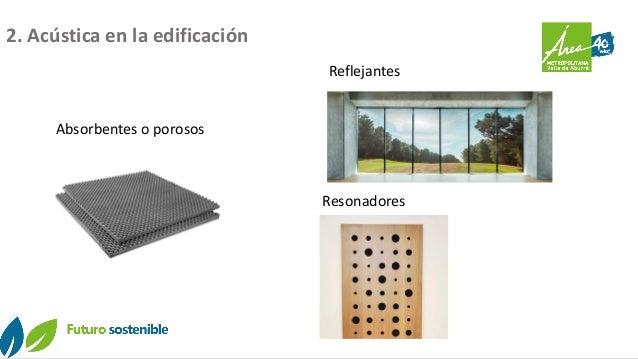 Absorbentes o porosos Reflejantes Resonadores 2. Acústica en la edificación