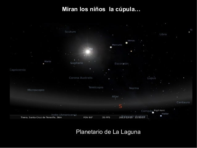 Planetario de La Laguna Miran los niños la cúpula…