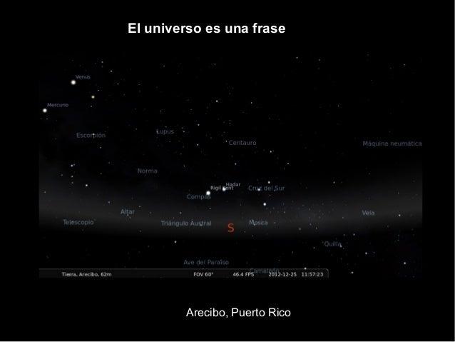 Arecibo, Puerto Rico El universo es una frase