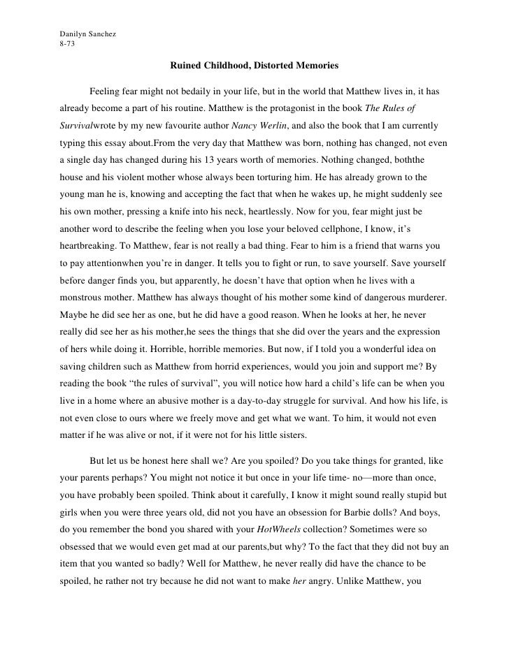 essay about childhood dreams