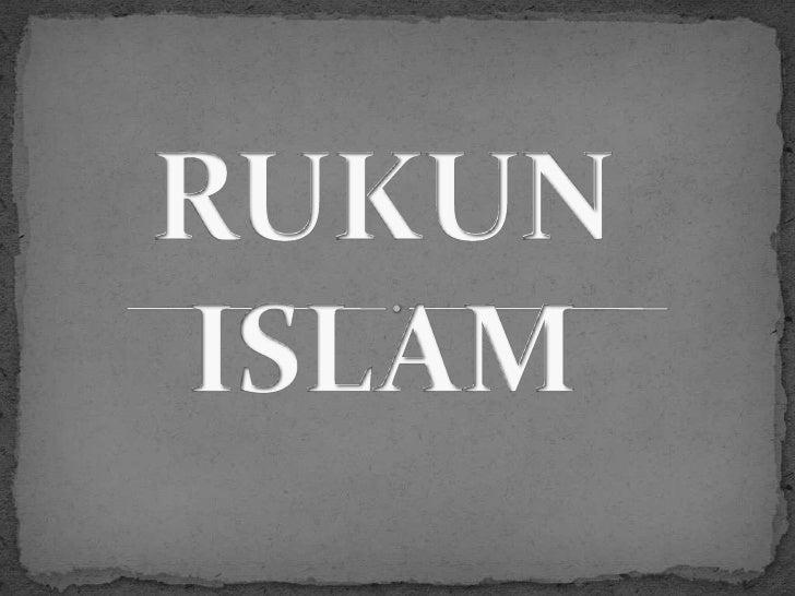 Ada berapakah Rukun Islam itu????????