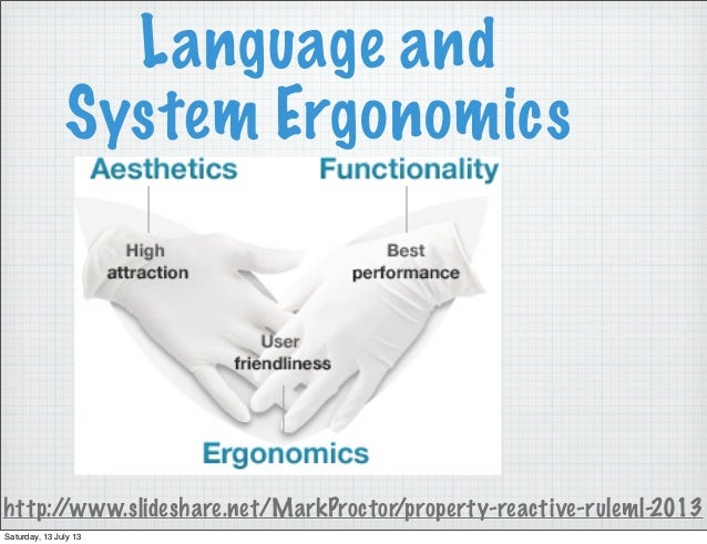 Language and System Ergonomics http://www.slideshare.net/MarkProctor/property-reactive-ruleml-2013 Saturday, 13 July 13
