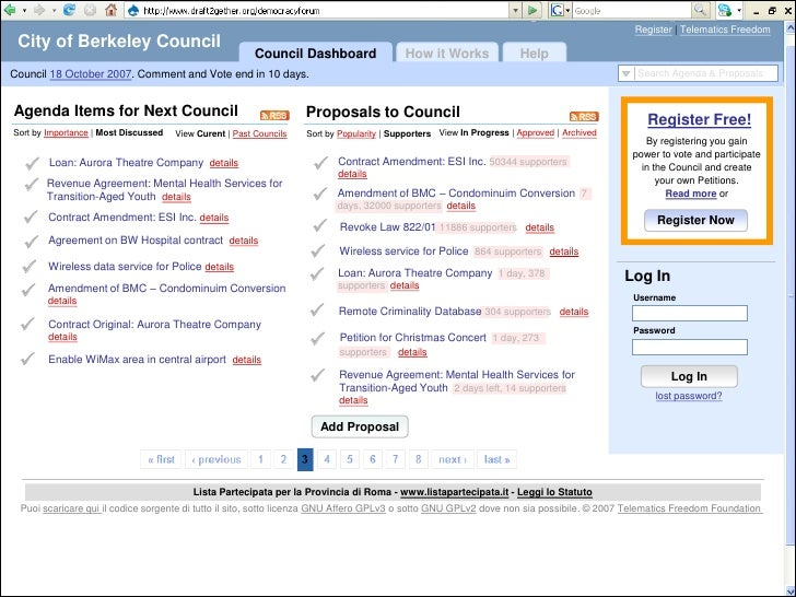 Register | Telematics Freedom  City of Berkeley Council                                                          Council D...