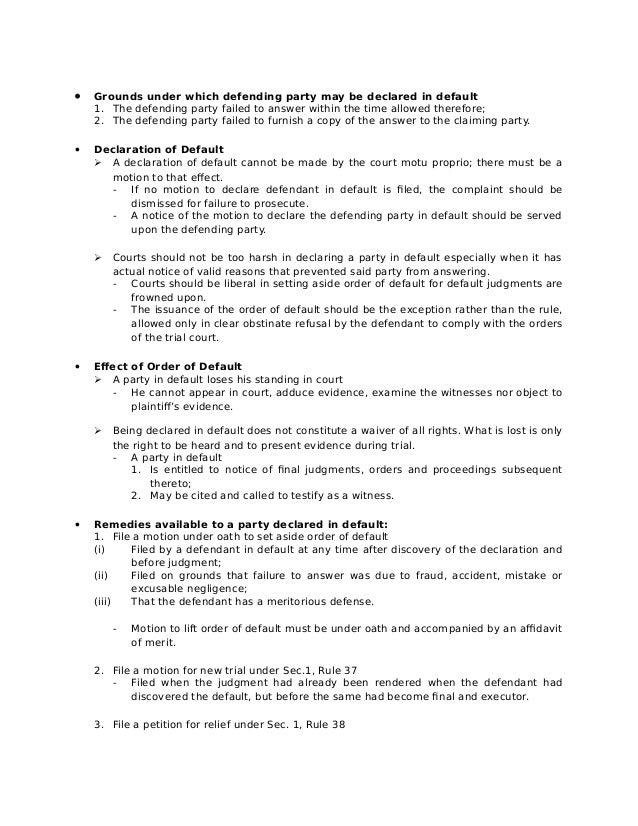 Adverse Action Notice >> Remedial Law Rule 9 effect of failure to plead
