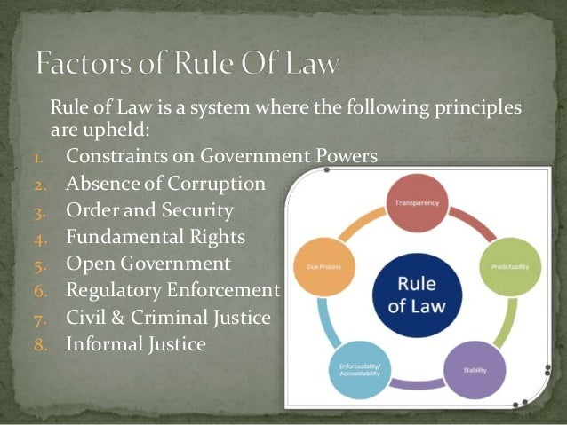 rule of law in the constitution His title was the rule of law and a change in constitution he dealt with the  most important changes to the structure of the english courts since the  judicature.
