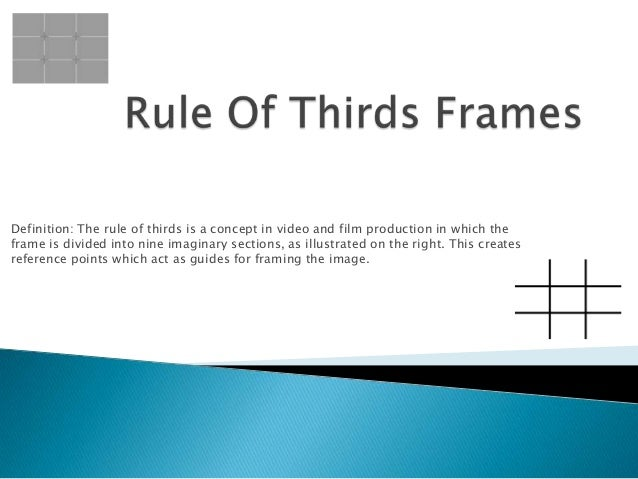 Rule of thirds frames