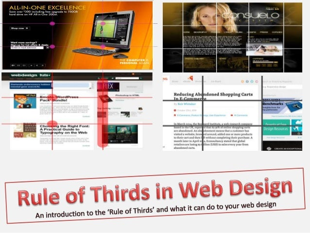rule of thirds web design Rule of thirds in web design