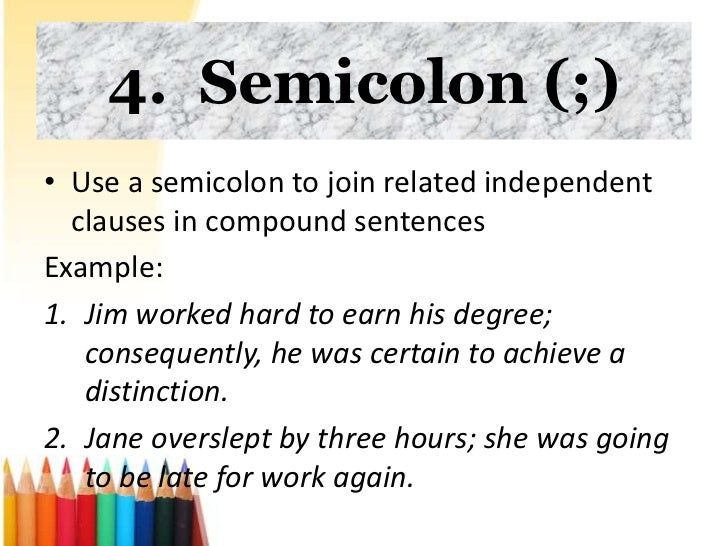 Semi Colon With A Capital Letter After