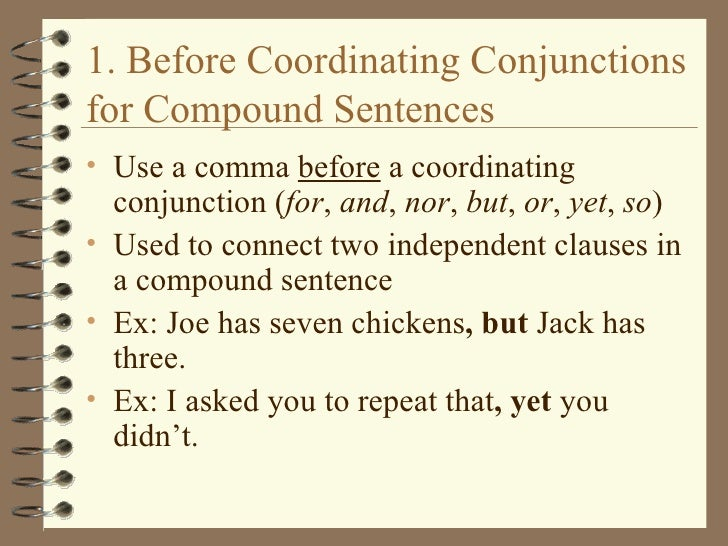 Rules of Comma Usage