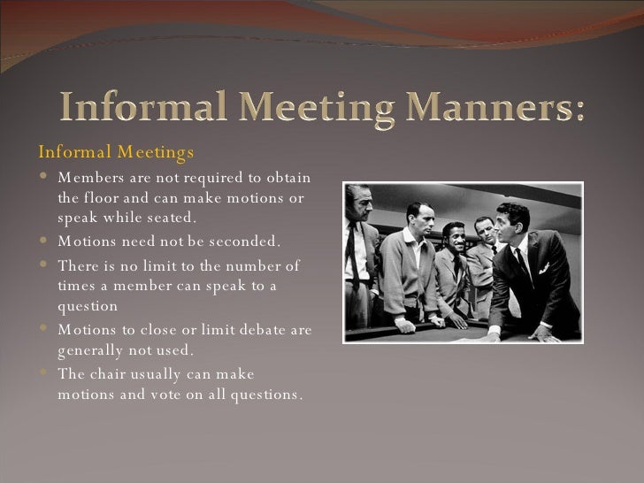 meetings parliamentary procedure and meeting Parlimentary procedure and effective meetings and committees attend every meeting in its the live programs of open government and parliamentary procedure.