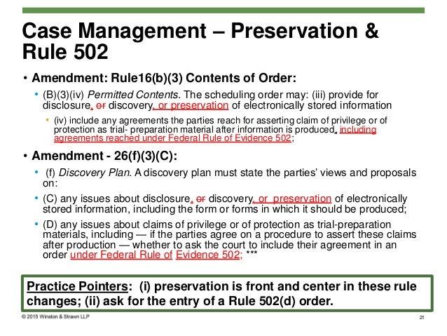 Implications of 2015 Amendments to the Federal Rules of Civil Procedu…