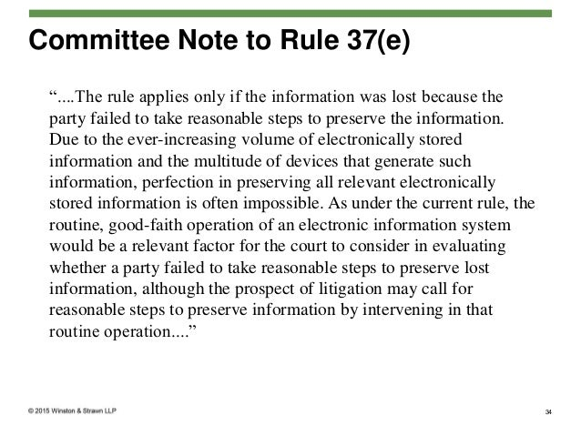 implications of 2015 amendments to the federal rules of