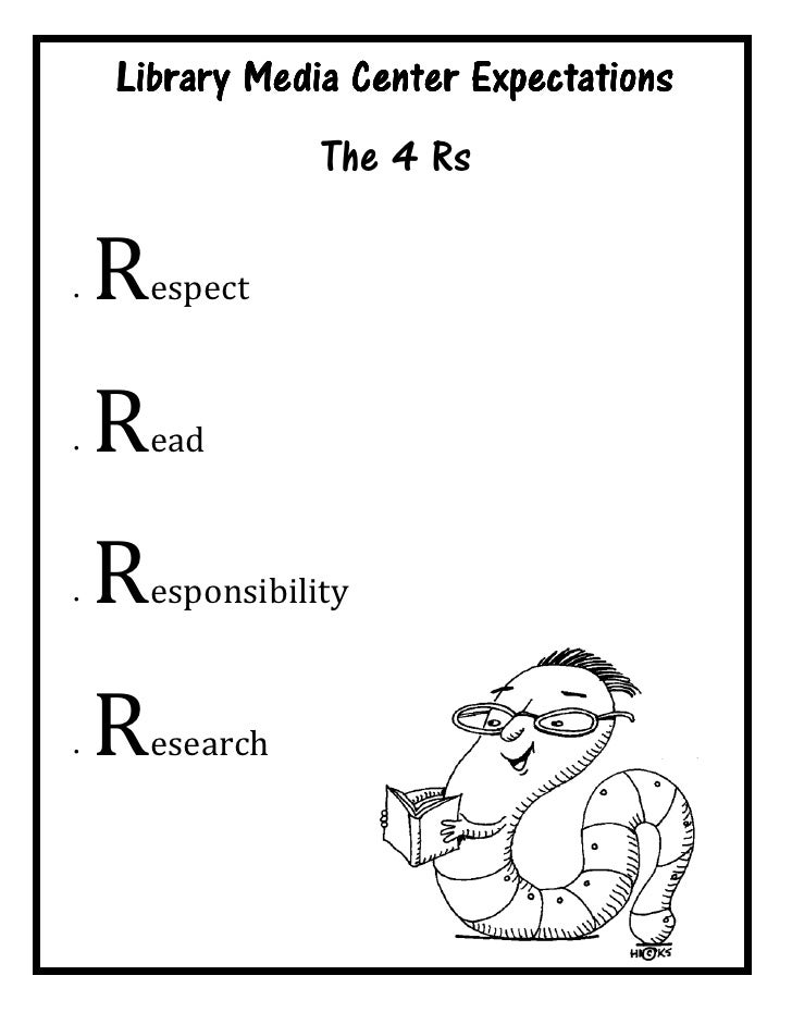 Library Media Center Expectations                    The 4 Rs  •   R   espect    •   R   ead    •   R   esponsibility    •...