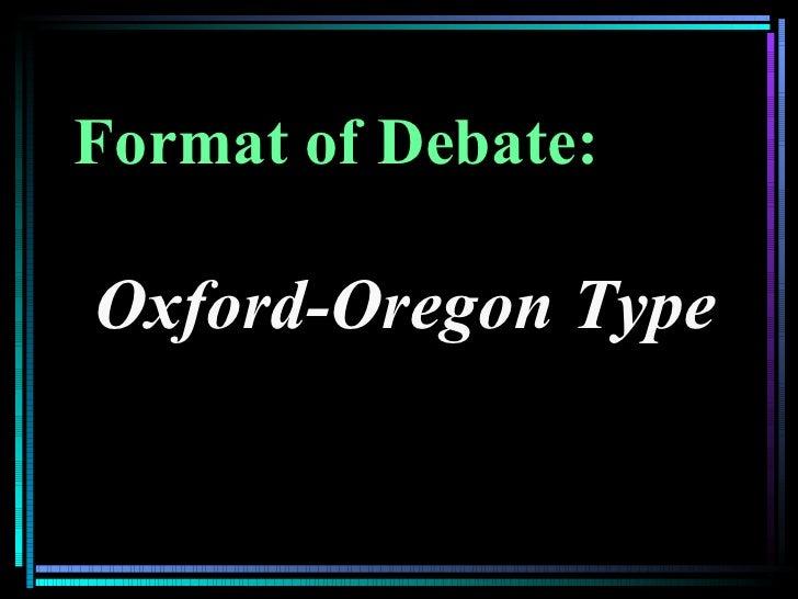 oregon oxford debate sample