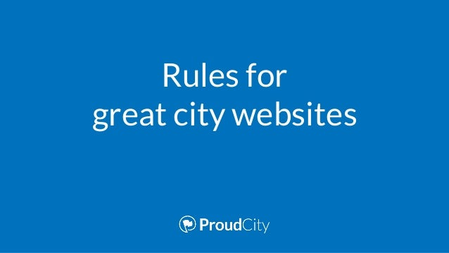 Rules for great city websites