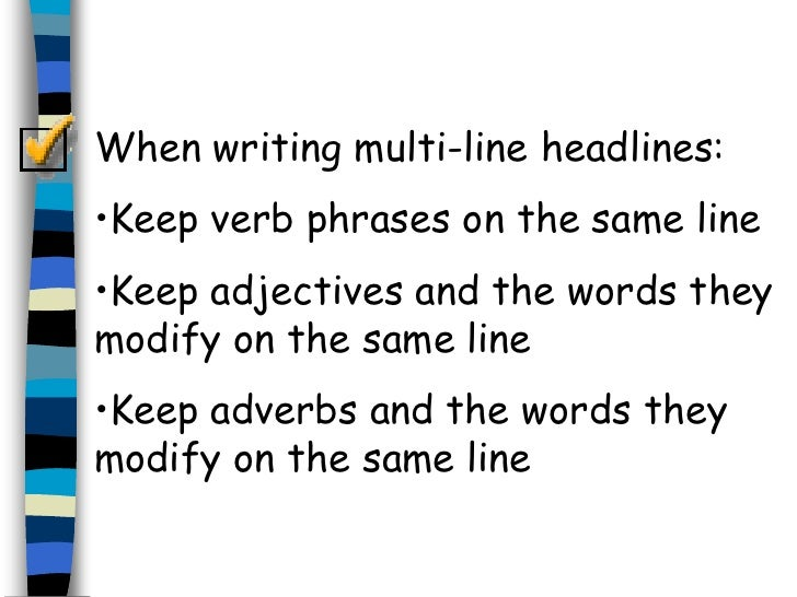 writing headlines The secrets of great headline writing david marsh the site seeks to point out how headlines are increasingly used as clickbait.