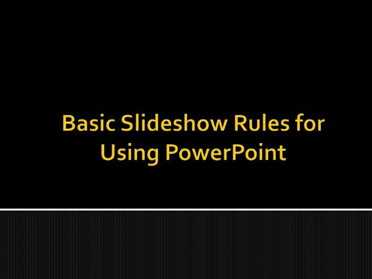 One key point per slide!