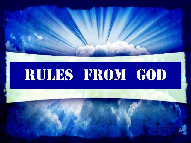 RULES FROM GOD