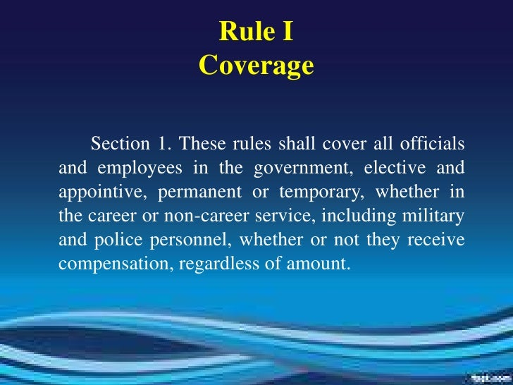 Public Officials and Employees Rules