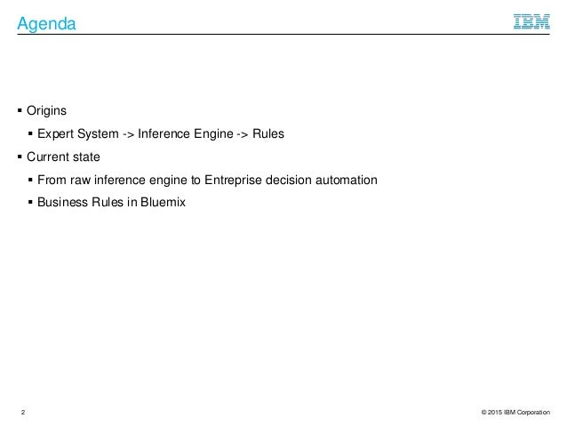 Rules in Artificial Intelligence Slide 2
