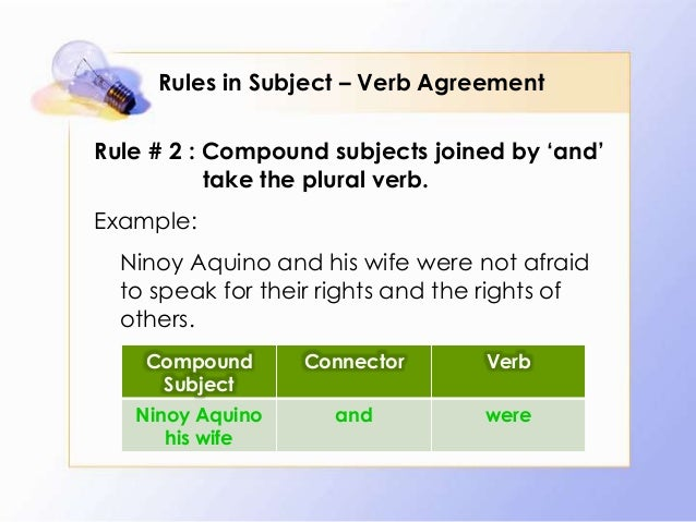 Rules in subject verb agreement 5 rules in subject verb agreement platinumwayz