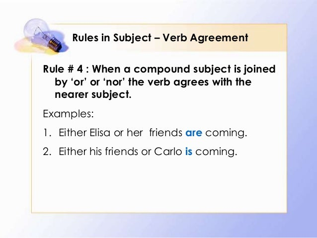 100 rules of subject verb agreement Download presentation powerpoint slideshow about '10 simple rules: subject-verb agreement' - paytah an image/link below is provided (as is) to download presentation.
