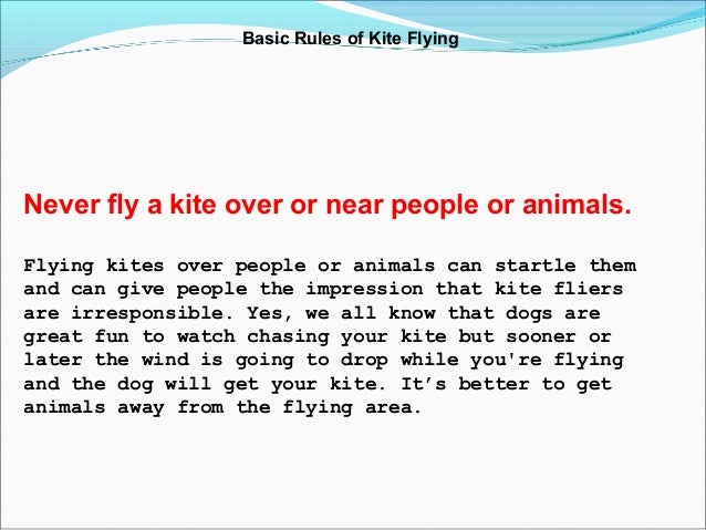 Kite Flying Rules