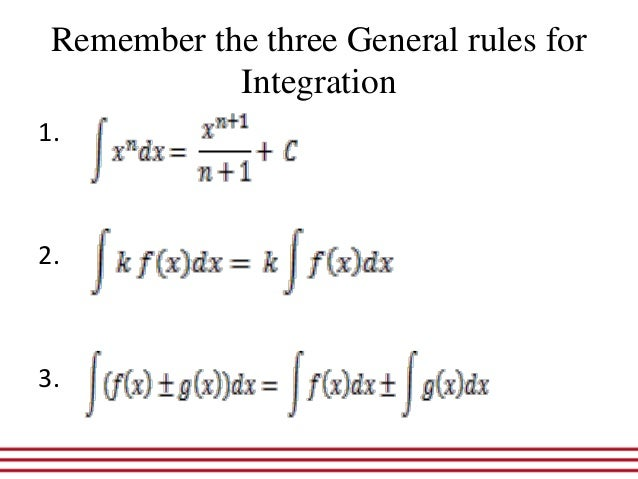 Rules of integration