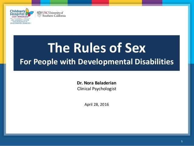 Sexual education for developmentally disabled