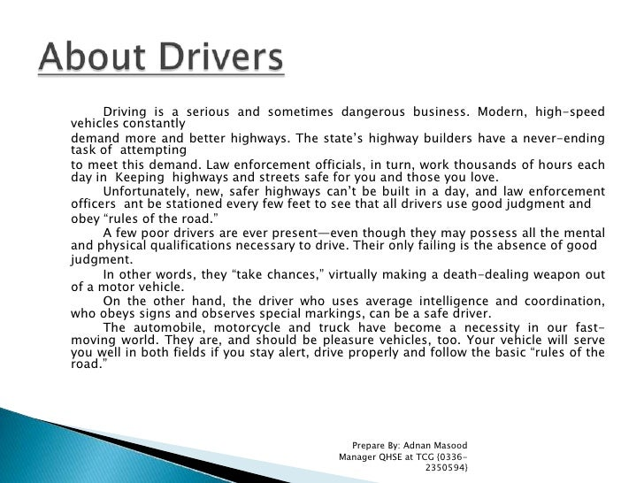 Driving is a serious and sometimes dangerous business. Modern, high-speed vehicles constantly<br />demand more and better ...
