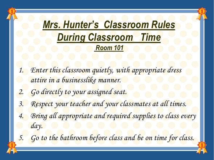classroom rules high school pdf