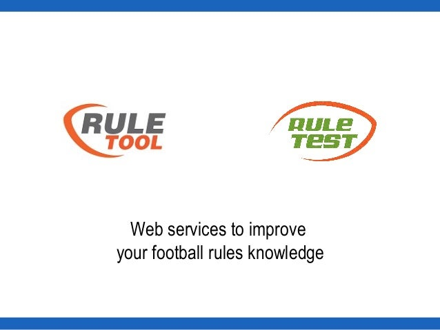 Web services to improve your football rules knowledge