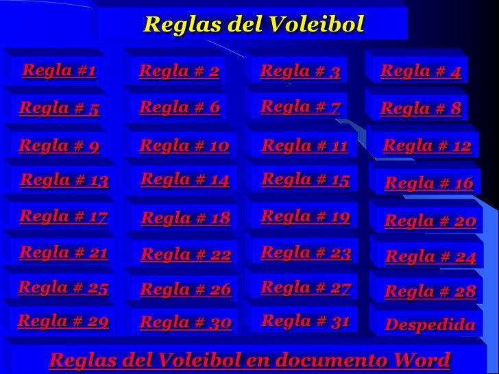 Reglas Voleibol En Español