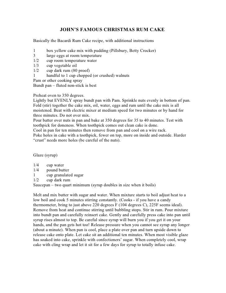 Christmas cake funny recipe