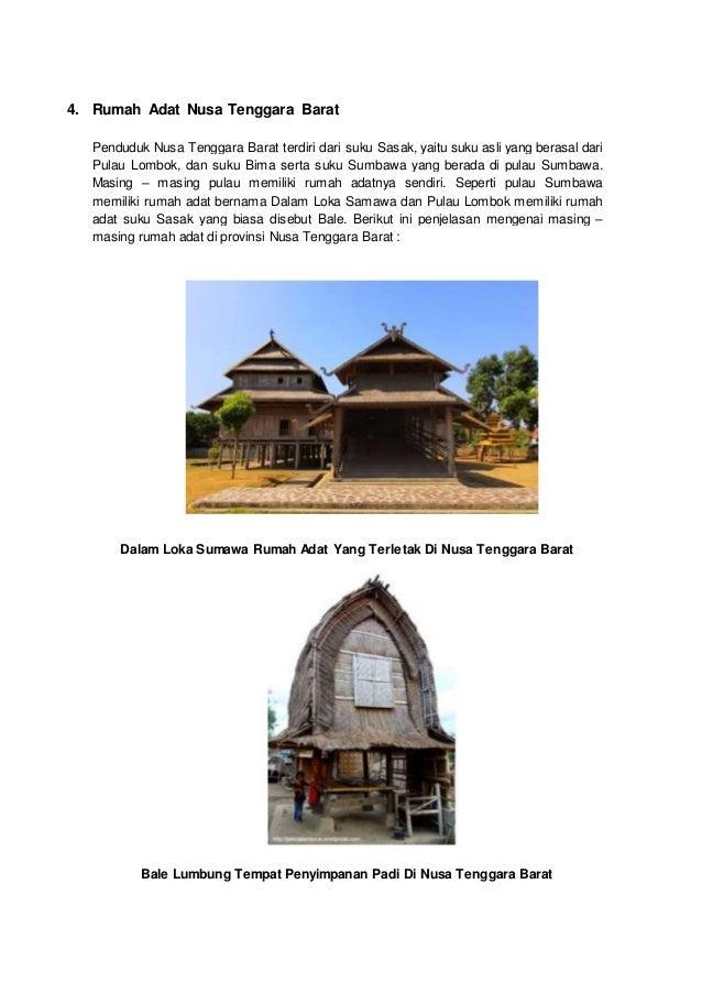 5 Rumah Adat Dan Lumbung Padi