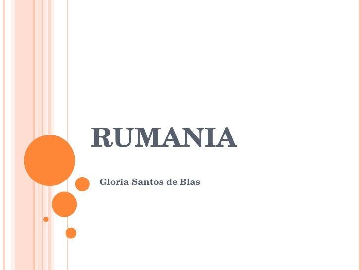 RUMANIA Gloria Santos de Blas