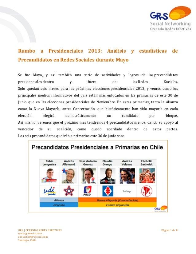 GRS | CREANDO REDES EFECTIVASwww.grssocial.comcontacto@grssocial.comSantiago, ChilePágina 1 de 8Rumbo a Presidenciales 201...